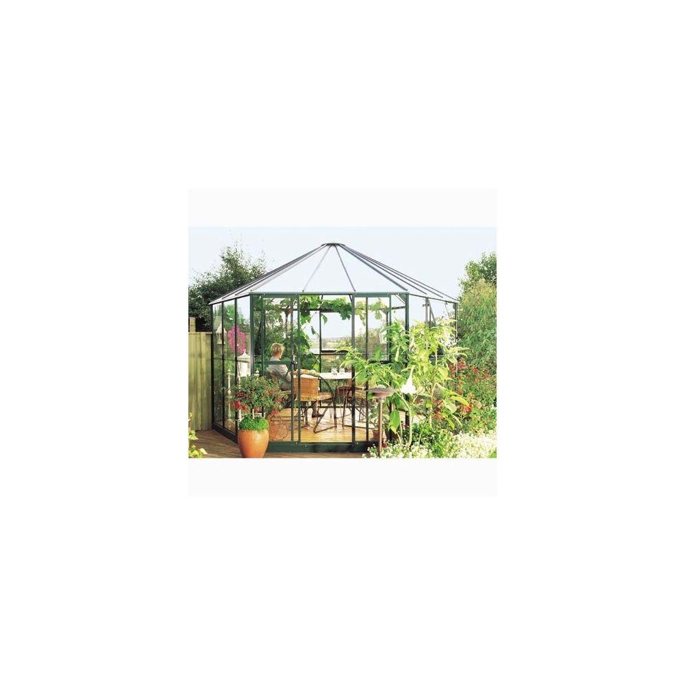 Serre de jardin Hexagonale - Hera 9m2 - verre horticole 4mm - LAMS ...