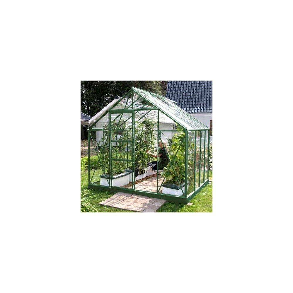 Serre de jardin merkur 6 70m2 verre horticole 3mm lams for Jardin 70 m2