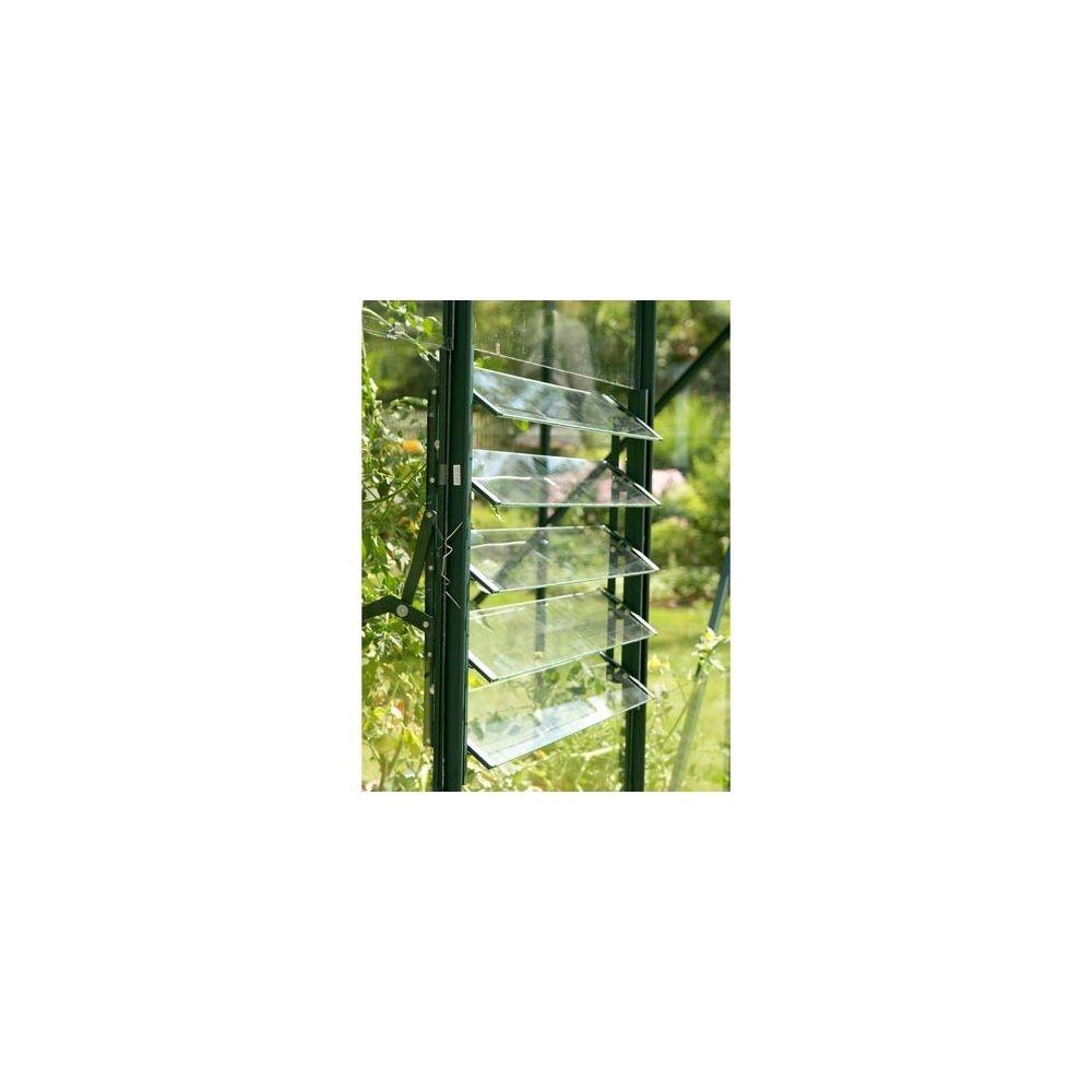 jalousie 5 lames laqu e verte pour serre lams plantes et jardins. Black Bedroom Furniture Sets. Home Design Ideas