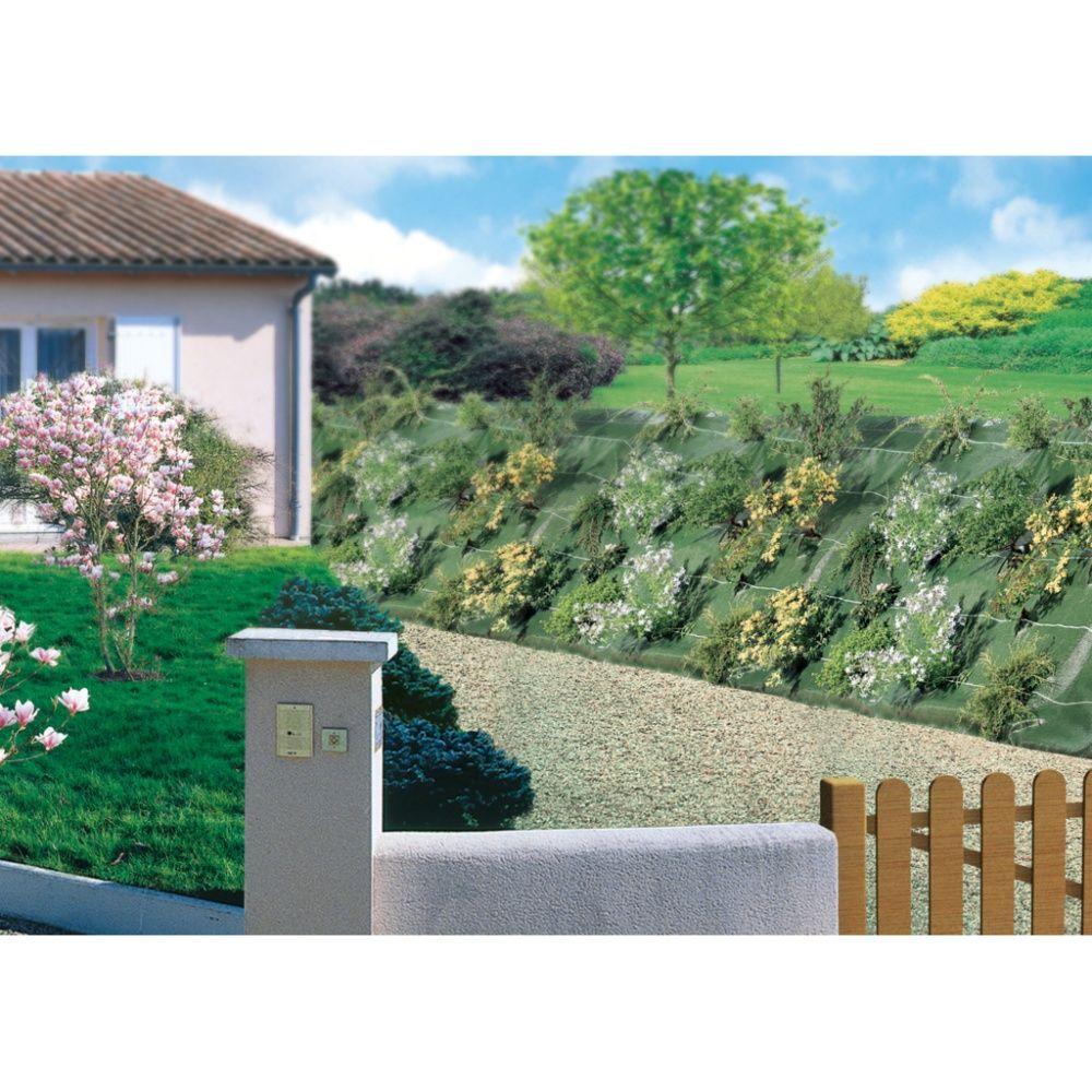 Toile de paillage 1 25m x 25m verte plantes et jardins for Paillage jardin