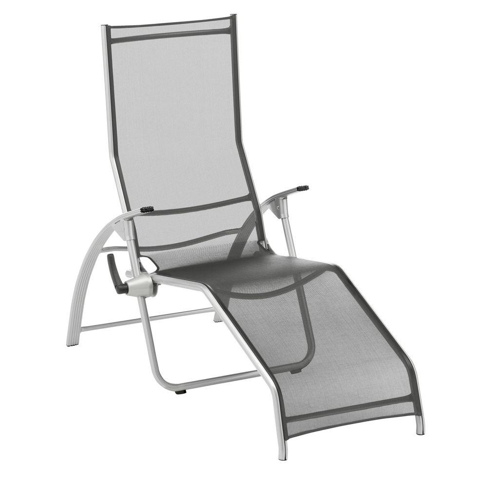 Chaise longue tampa kettler aluminium textil ne argent for Chaise aluminium textilene