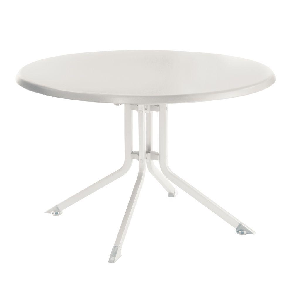Table De Jardin Pliante R Sine Kettler 100 Cm Blanc Plantes Et Jardins