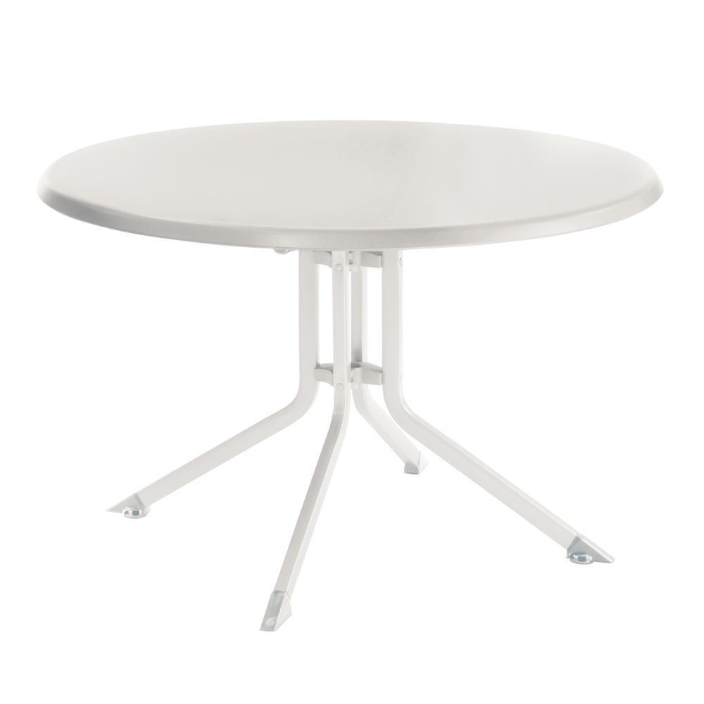 table de jardin pliante r sine kettler 115 cm blanc plantes et jardins. Black Bedroom Furniture Sets. Home Design Ideas