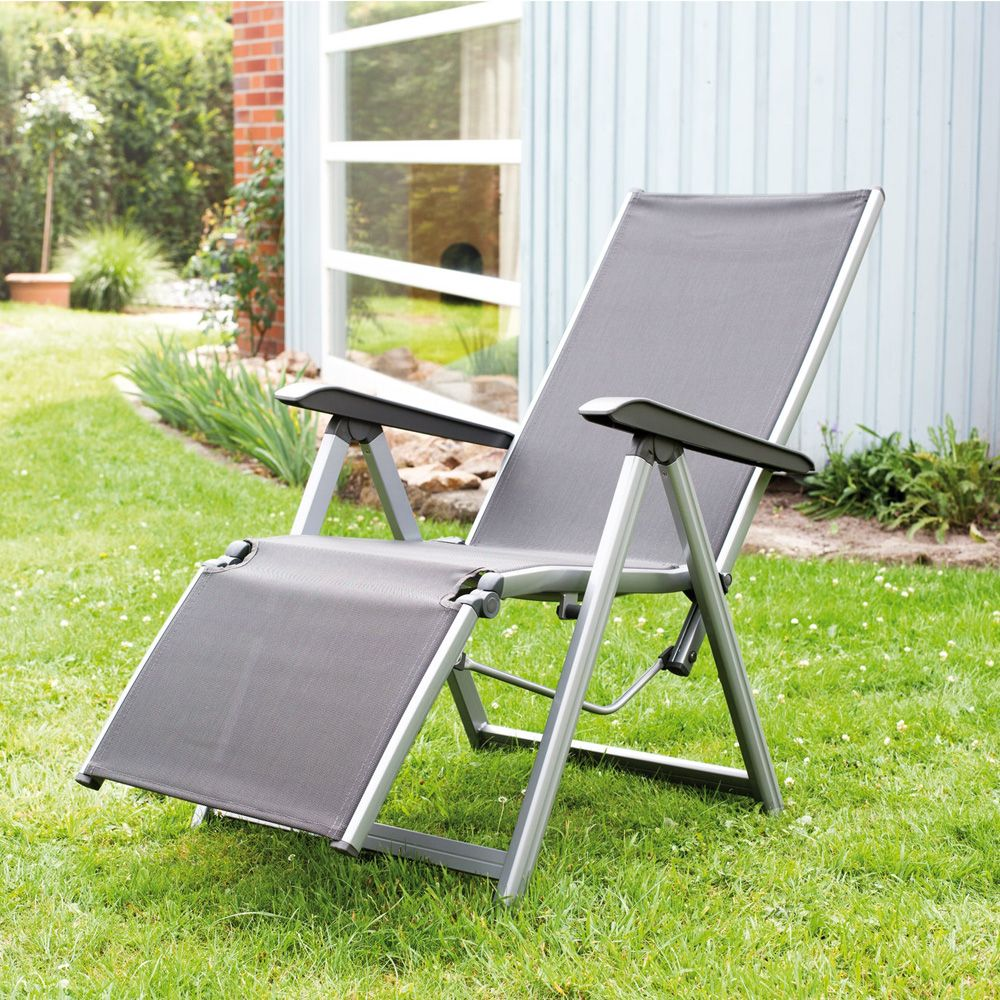 fauteuil relax basic plus kettler argent anthracite plantes et jardins. Black Bedroom Furniture Sets. Home Design Ideas