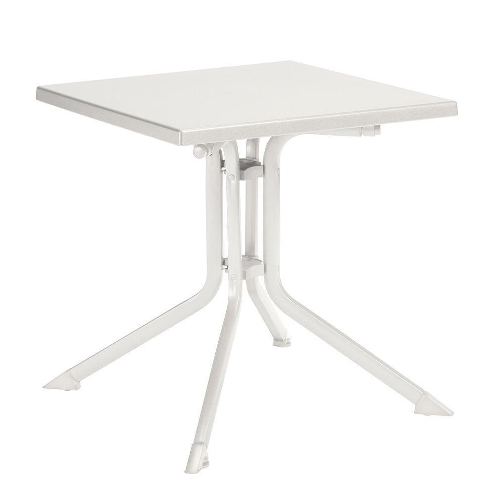Table De Jardin Pliante R Sine Kettler L80 L80 Cm Blanc Plantes Et Jardins