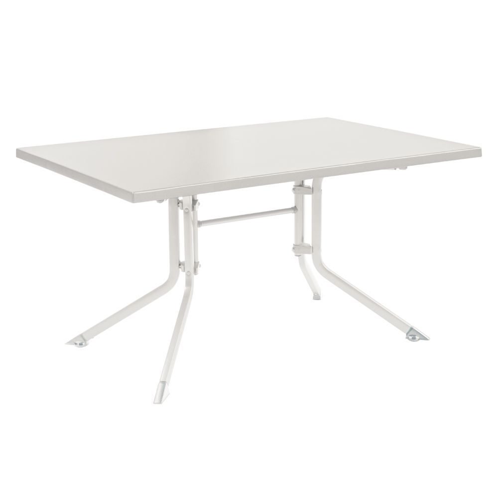 table de jardin pliante r sine kettler l115 l70 cm blanc plantes et jardins. Black Bedroom Furniture Sets. Home Design Ideas