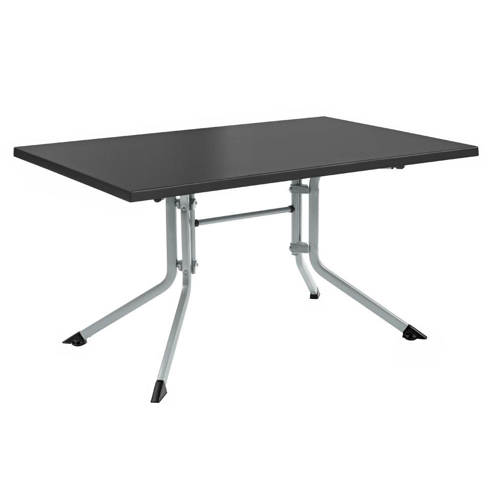 table de jardin pliante r sine kettler l160 l95 cm argent gris plantes et jardins. Black Bedroom Furniture Sets. Home Design Ideas