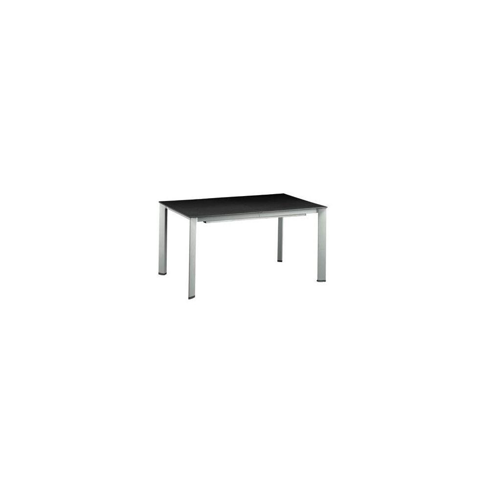 Table extensible loft 160 220 280 x 95 cm argent noir for Table extensible 280 cm