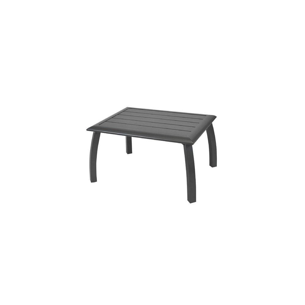 table basse azuro en aluminium 80 x 60 x 45 cm grise. Black Bedroom Furniture Sets. Home Design Ideas