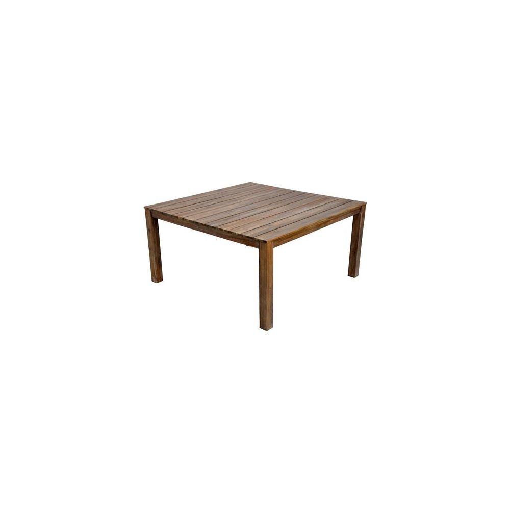 Table carr e cosmos en acacia fsc 150 x 150 cm taupe for Table carree 150 x 150