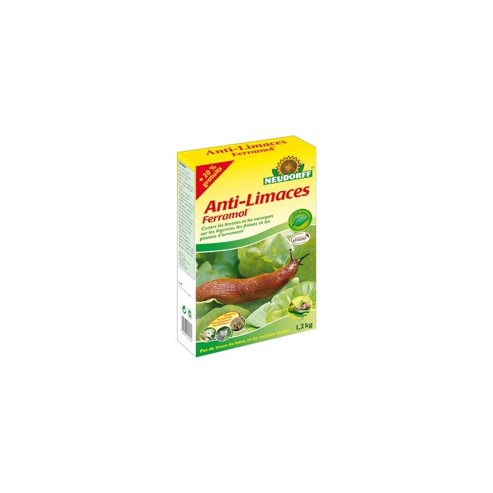 anti limaces ferramol 1kg 20 gratuit neudorff bio plantes et jardins. Black Bedroom Furniture Sets. Home Design Ideas