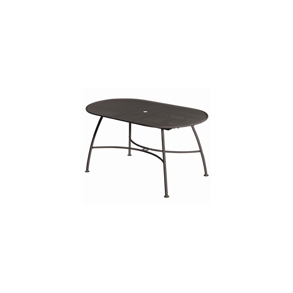 Table ovale pergola plateau maill fer ancien for Plateau table ovale