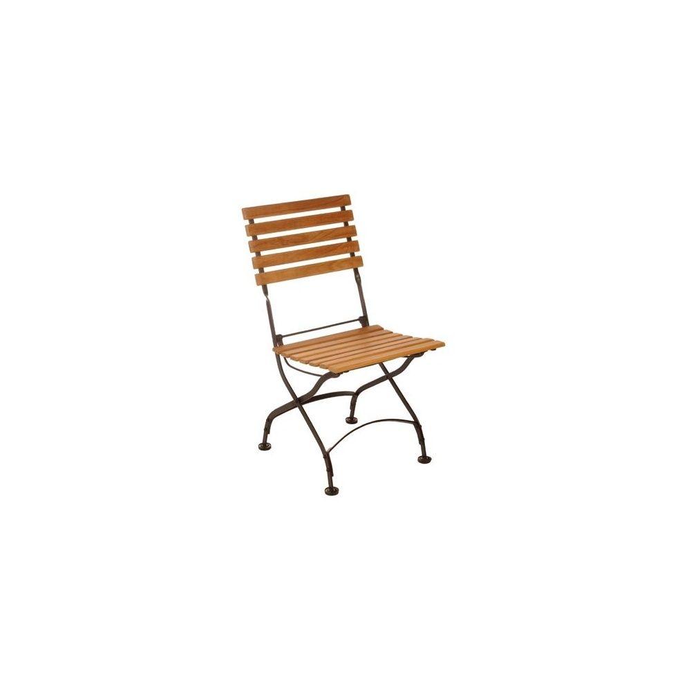chaise pliante en fer forg et eucalyptus fsc lot de 2 plantes et jardins. Black Bedroom Furniture Sets. Home Design Ideas