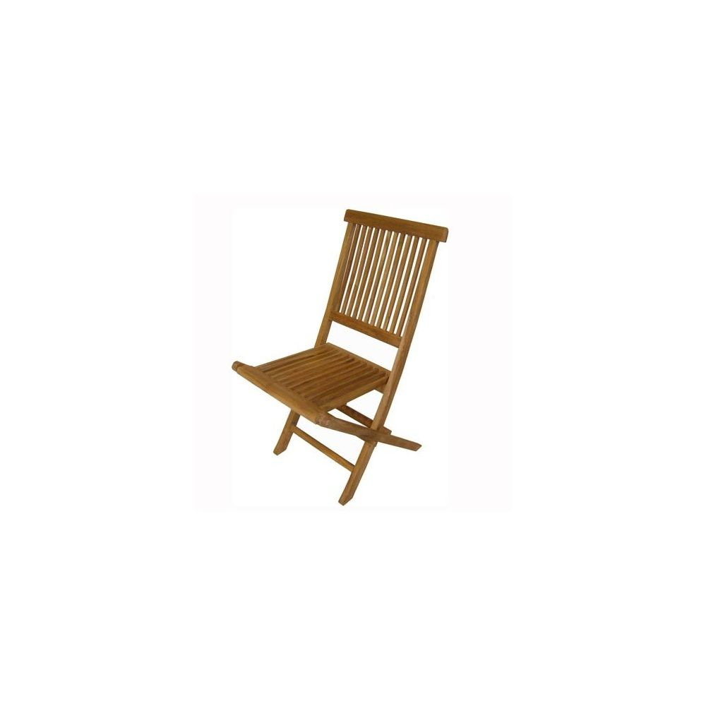 Chaise pliante en teck tinos naturel lot de 2 for Chaise pliante en teck