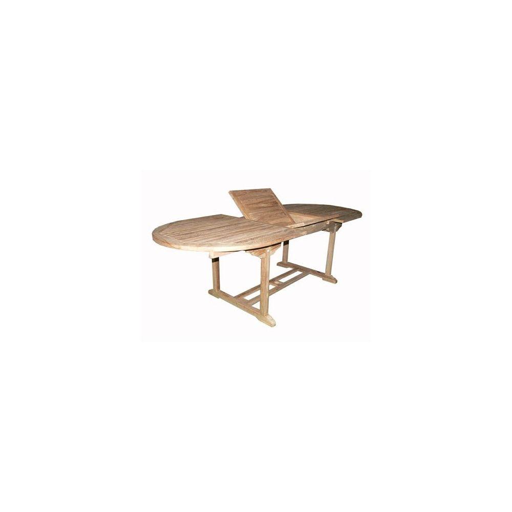table en teck rallonge papillon topi 150 210 x 100 x. Black Bedroom Furniture Sets. Home Design Ideas