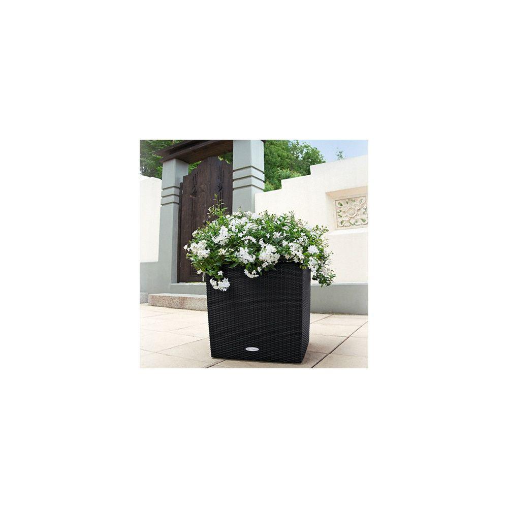cube cottage 40 noir kit complet lechuza plantes. Black Bedroom Furniture Sets. Home Design Ideas