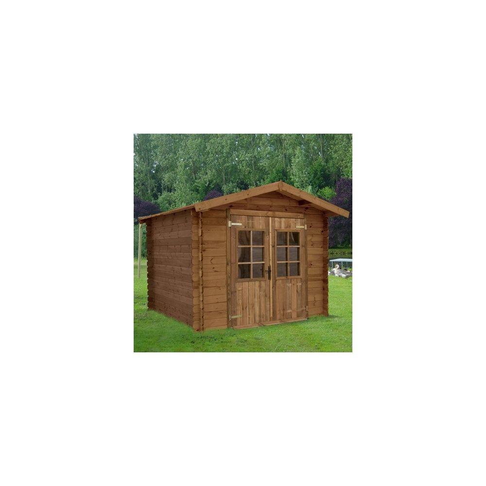 Abri de jardin loann m hors tout en bois trait for Abri de jardin bois traite autoclave