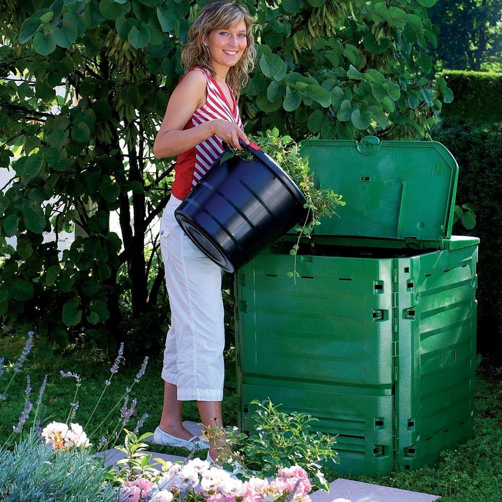 composteur thermo king vert 600l garantia plantes et jardins. Black Bedroom Furniture Sets. Home Design Ideas