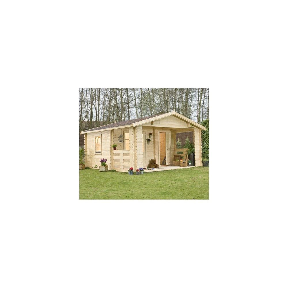 abri de jardin semi habitable mala a 21 50m2 en bois. Black Bedroom Furniture Sets. Home Design Ideas
