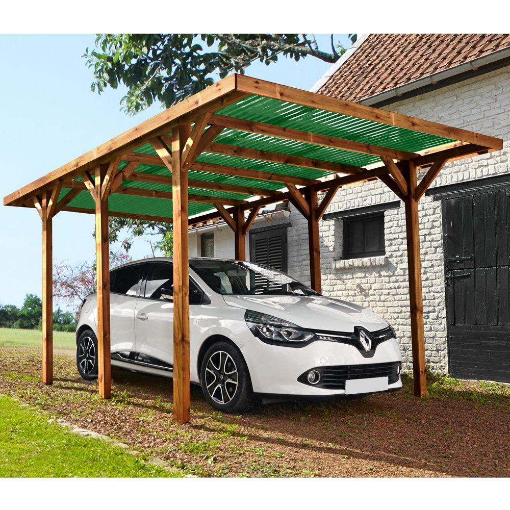 carport bois trait madeira enzo 15 72 m plantes et jardins. Black Bedroom Furniture Sets. Home Design Ideas
