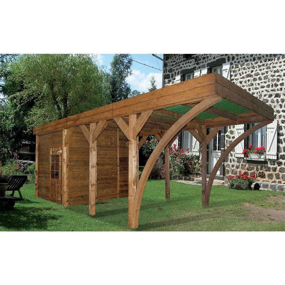 carport remise bois trait aymar 24 39 m plantes et jardins. Black Bedroom Furniture Sets. Home Design Ideas