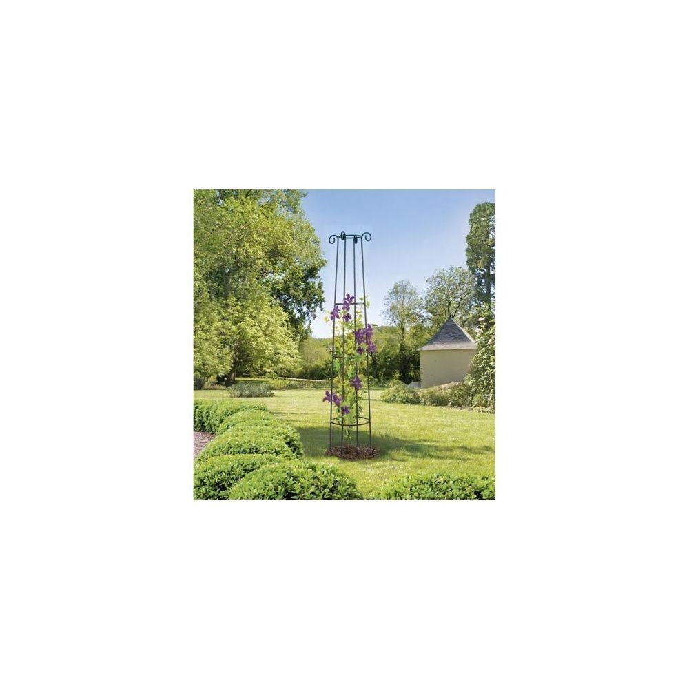 support d coratif obelisk pour plantes grimpantes ou en. Black Bedroom Furniture Sets. Home Design Ideas