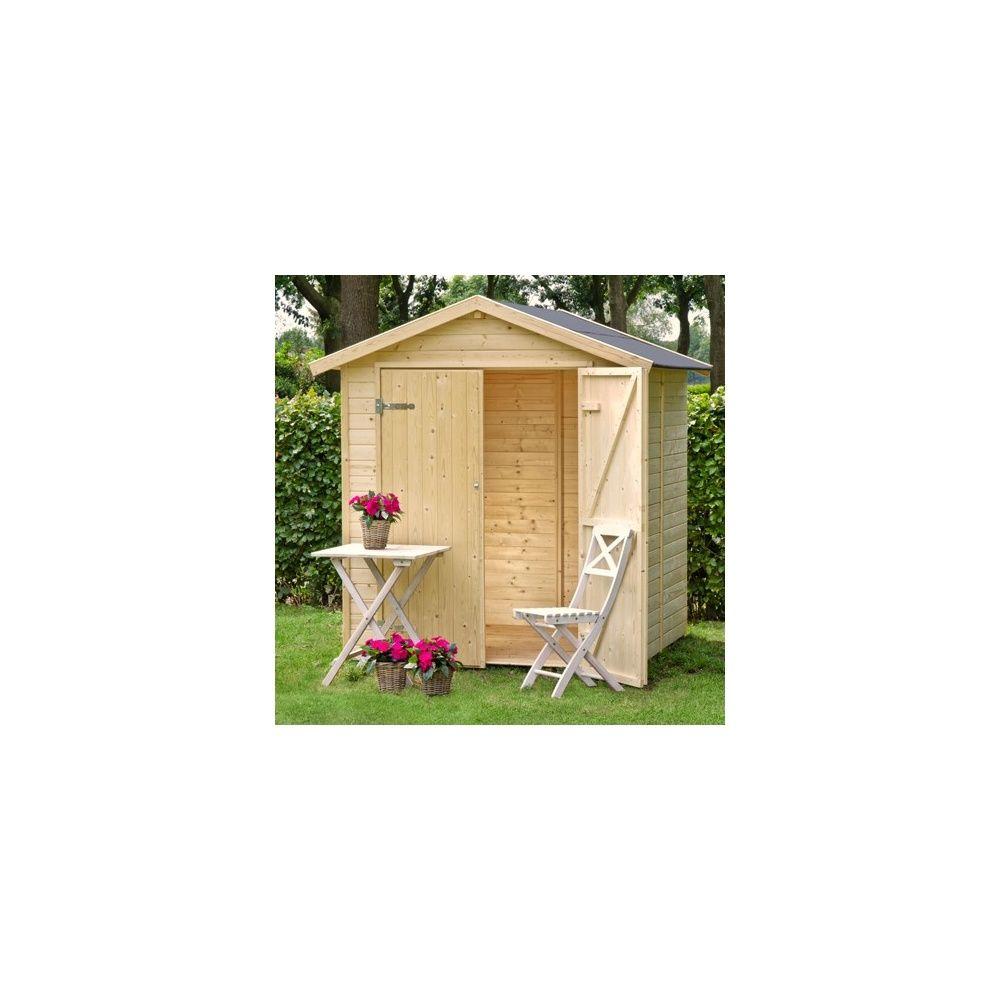 Abri de jardin nyland m hors tout en bois 14 mm avec plancher plantes et jardins - Abri de jardin en bois avec plancher ...