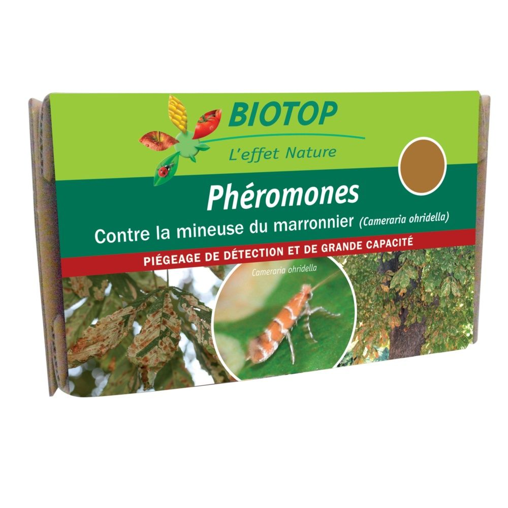 ph romones sp ciales mineuse du marronnier 2 capsules biotop plantes et jardins. Black Bedroom Furniture Sets. Home Design Ideas