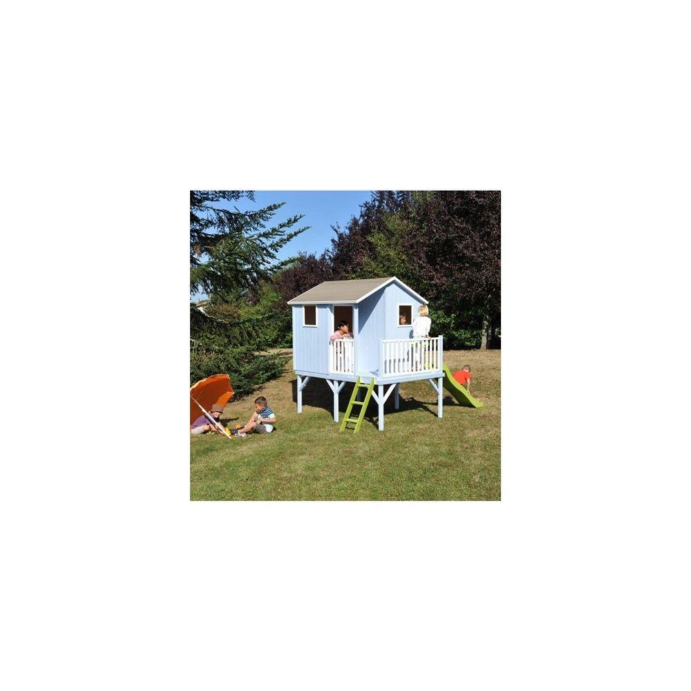 Maisonnette En Bois Avec Toboggan Maison Jeux Extrieur