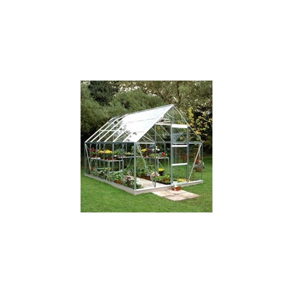 serre universal verre horticole 9 8m aluminium halls plantes et jardins. Black Bedroom Furniture Sets. Home Design Ideas