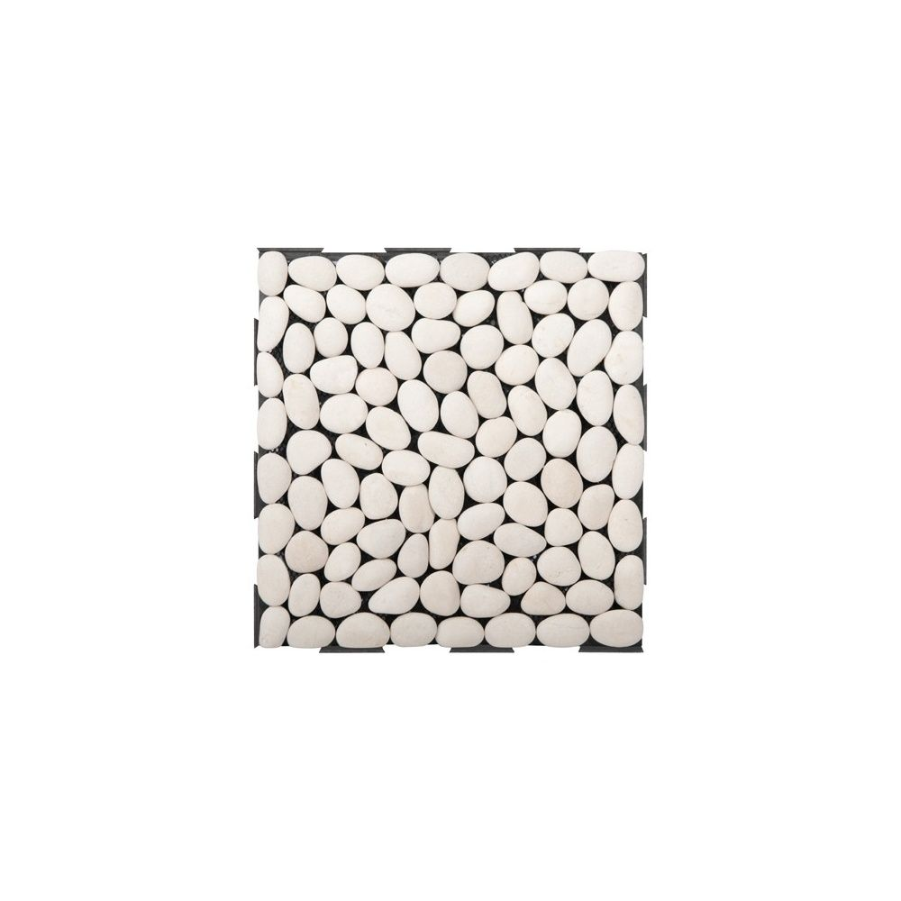 dalles clipsables galets blancs lot de 4 snap and go plantes et jardins. Black Bedroom Furniture Sets. Home Design Ideas