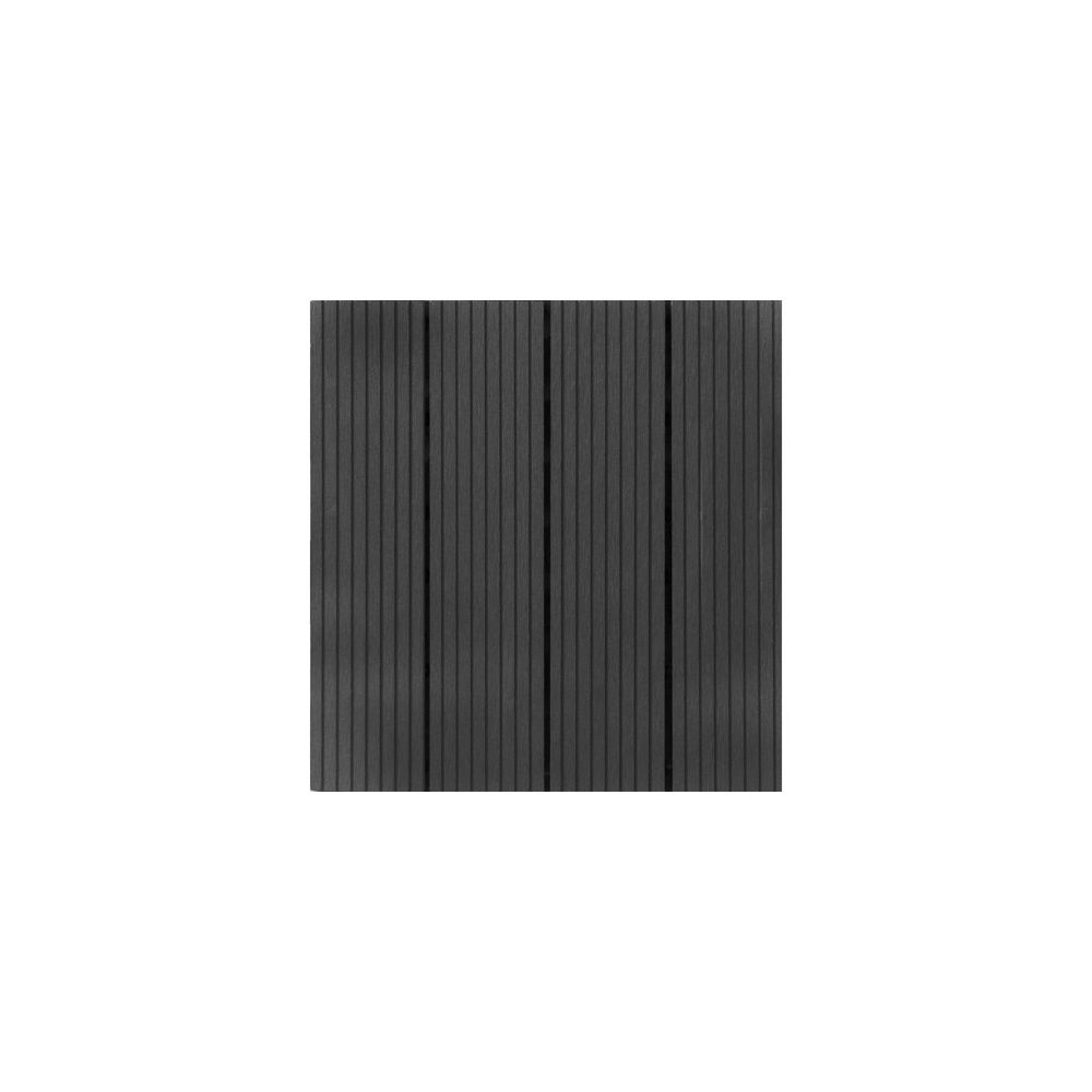 Dalles clipsables composite gris lot de 4 snap and go plantes et jardins - Dalles vinyles clipsables ...