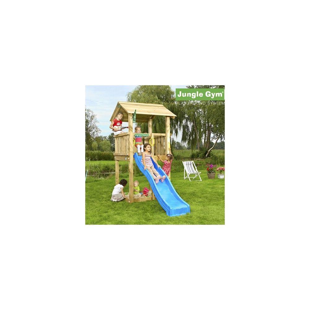 Tour de jeux bois pour enfant Jungle Gym Casa Avec toboggan Plantes et Jardins # Jeux En Bois Pour Enfant