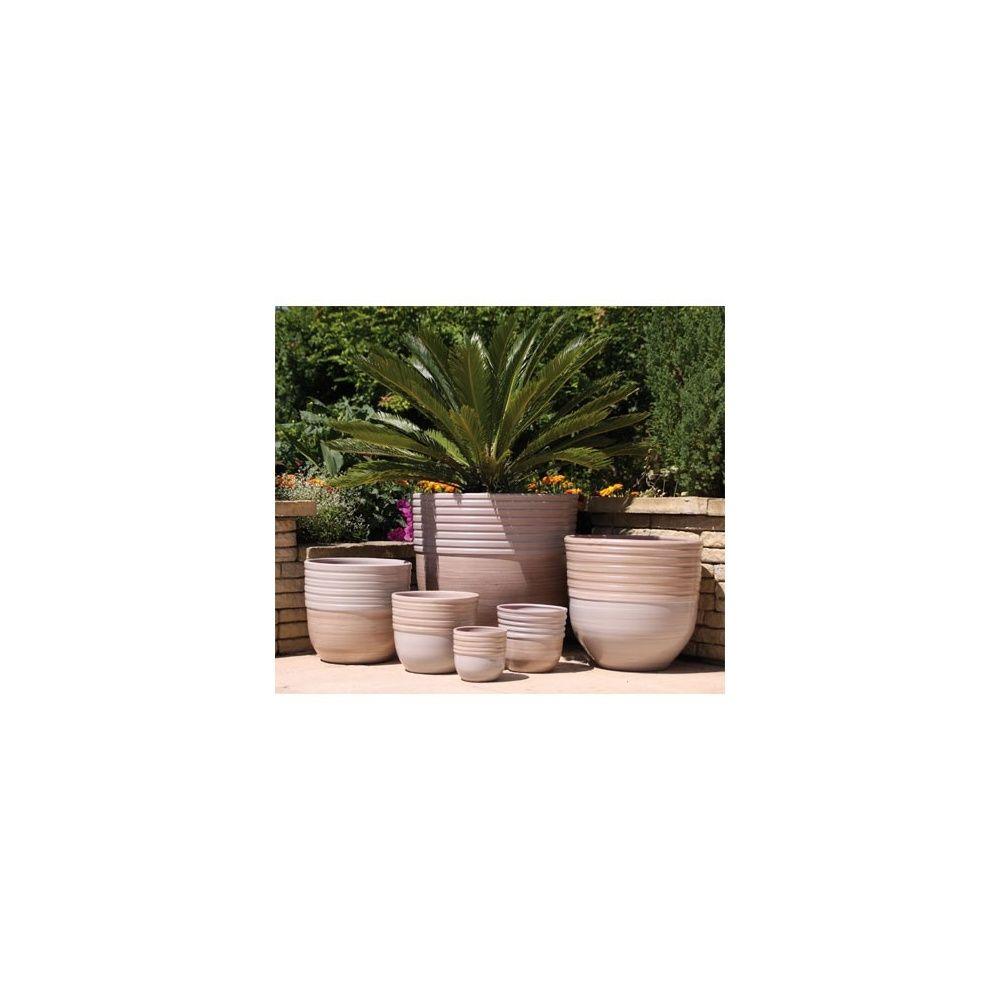 Pot en terre cuite maill e massaya bois flott d27 h24 plantes et jardins - Pot en terre cuite emaillee ...