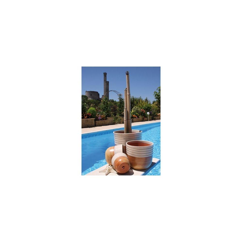 pot en terre cuite maill e massaya dune de coton d45 h42 plantes et jardins. Black Bedroom Furniture Sets. Home Design Ideas