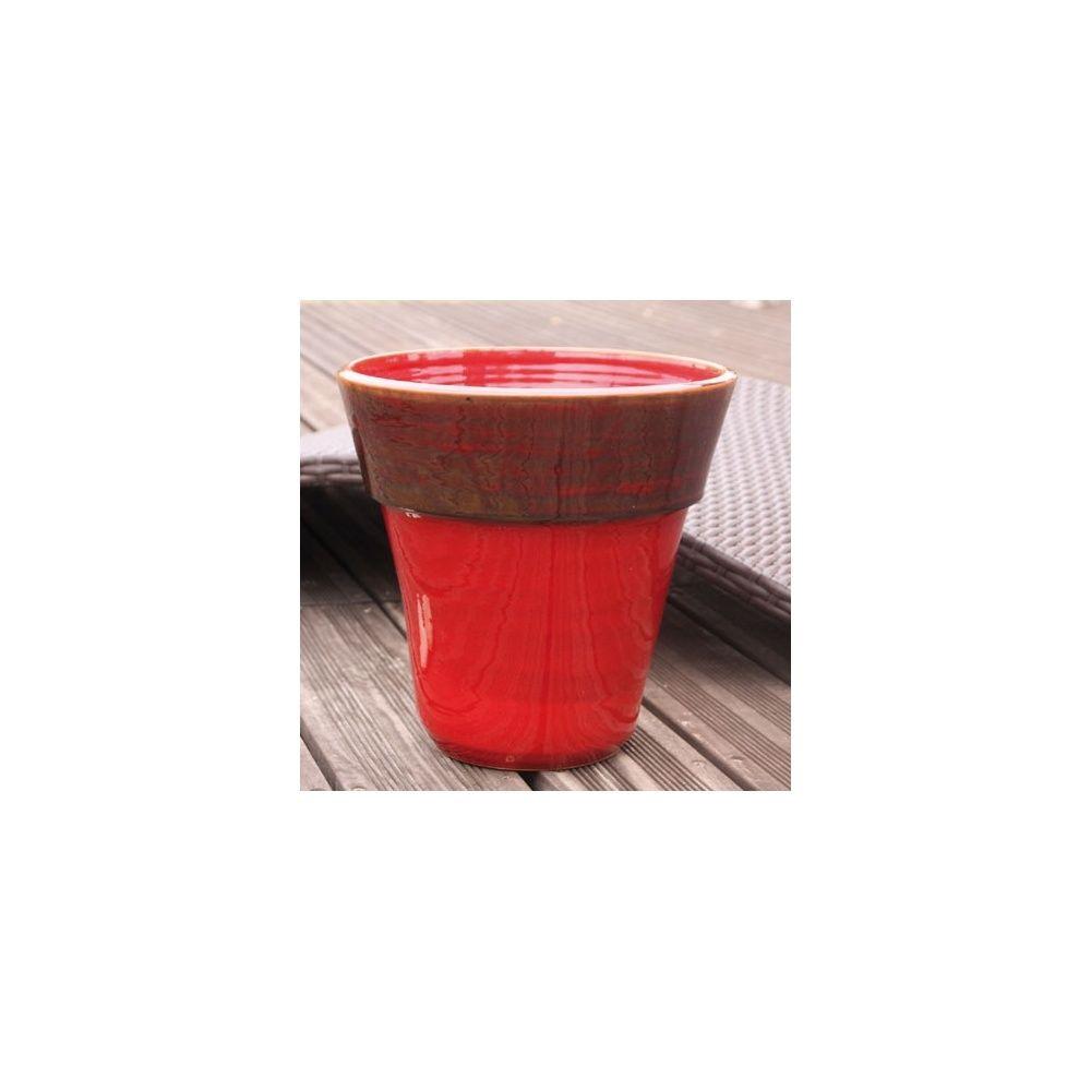 Pot en terre cuite maill e eucalyptus bois de santal d30 h30 plantes et jardins - Pot en terre cuite emaillee ...