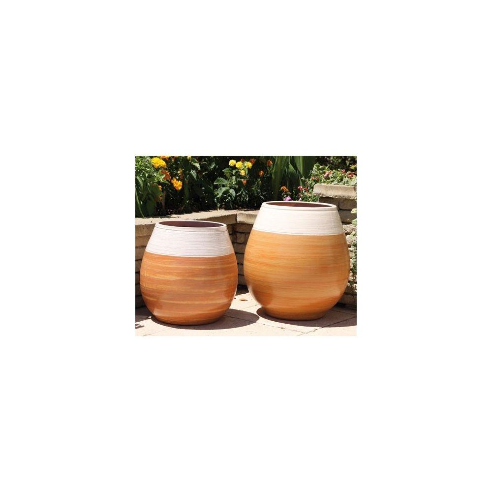 Pot en terre cuite maill e cheyennes be dune de coton - Pot en terre cuite emaillee ...