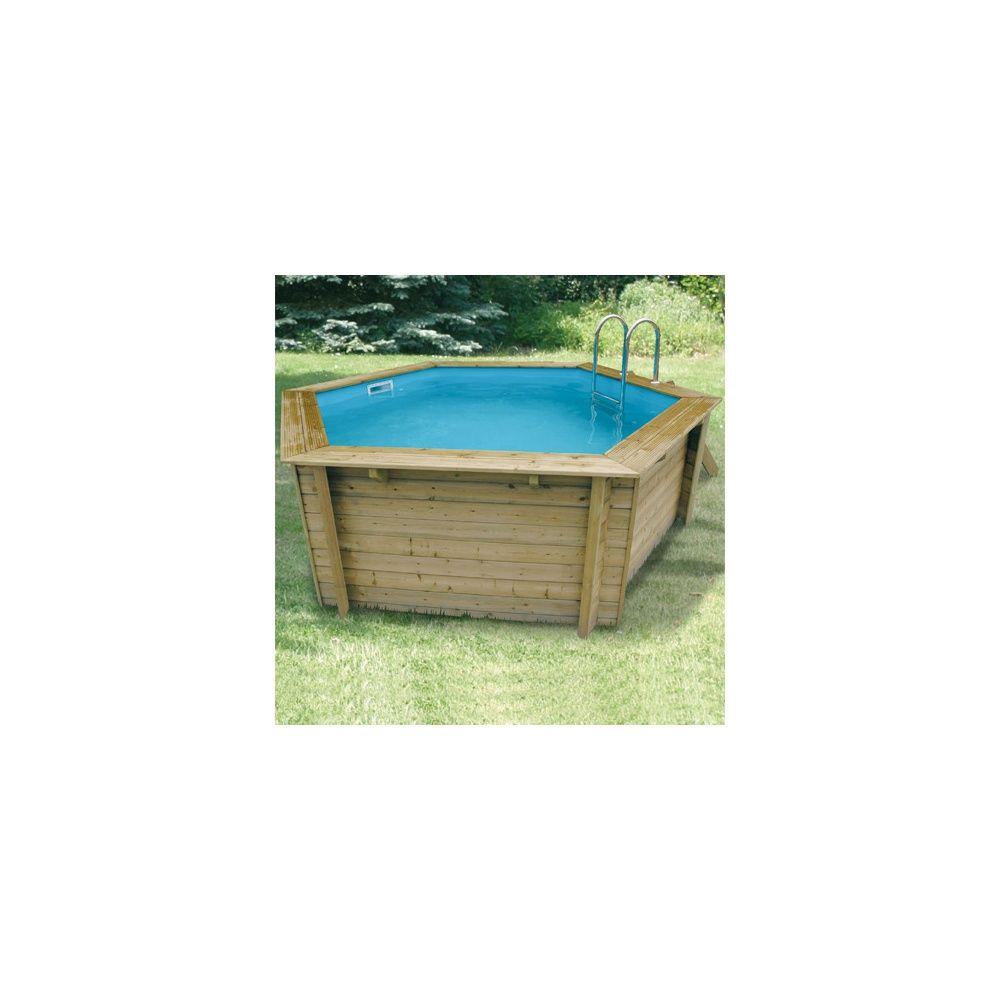 Piscine hexagonale azura pin du nord 410 x h120cm for Horaire piscine ales