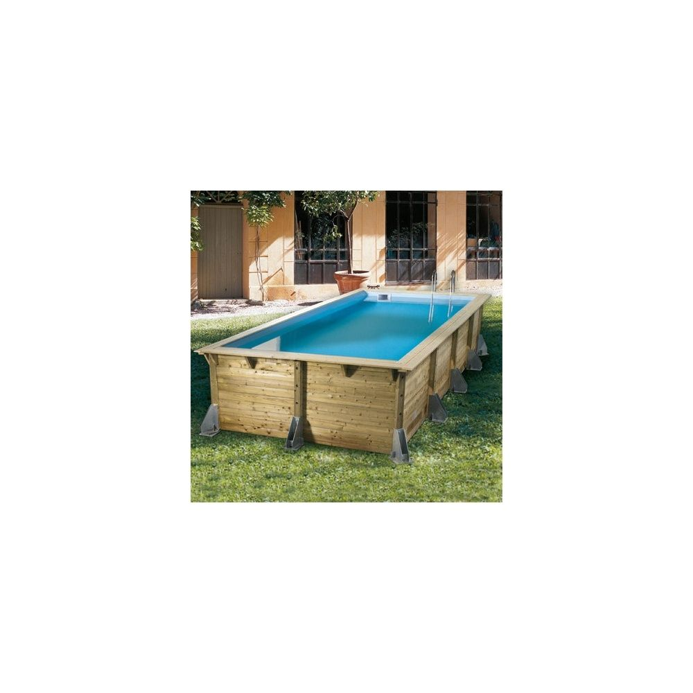 piscine rectangulaire azura pin du nord 350 x 505 x h126cm liner bleu plantes et jardins. Black Bedroom Furniture Sets. Home Design Ideas