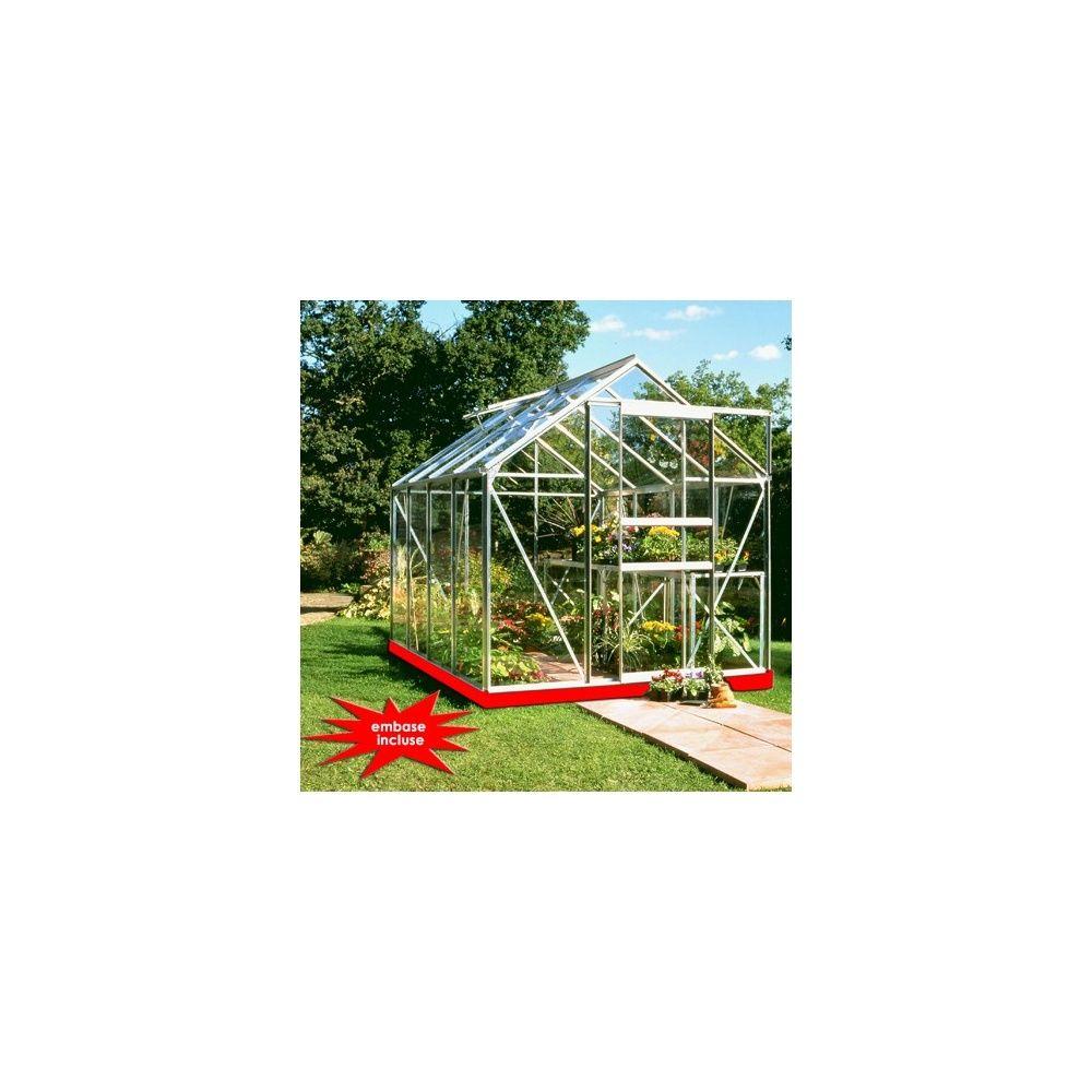 serre popular 5 m verre horticole embase 49 euros plantes et jardins. Black Bedroom Furniture Sets. Home Design Ideas