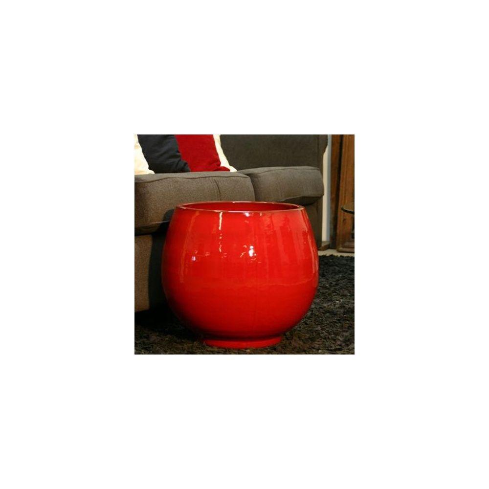 pot en terre cuite maill e bahia coquelicot d35 h38 plantes et jardins. Black Bedroom Furniture Sets. Home Design Ideas