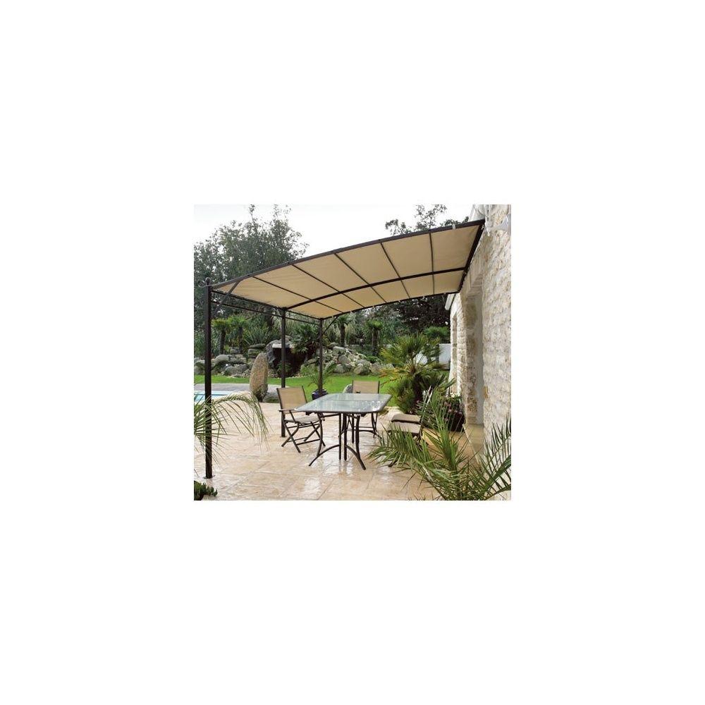structure pour tonnelle adoss e de jardin 3x4m acier plantes et jardins. Black Bedroom Furniture Sets. Home Design Ideas