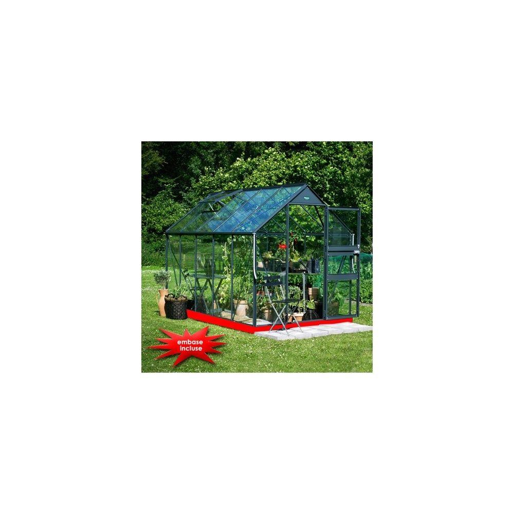 serre new acorn verre horticole 6m anthracite eden embase pour 1 euro plantes et jardins. Black Bedroom Furniture Sets. Home Design Ideas