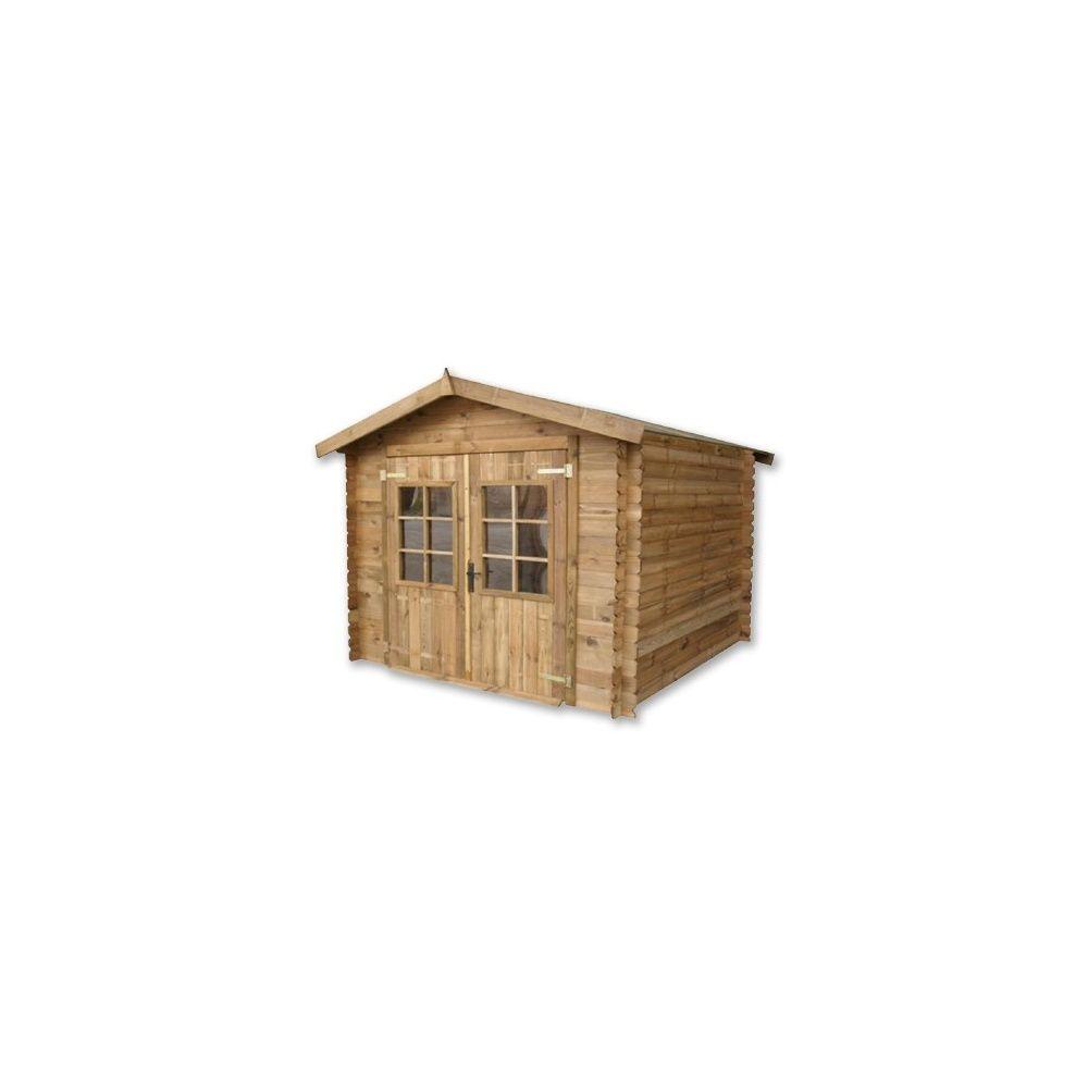 Abri de jardin en bois malaga b cher bois for Abri de jardin traite autoclave