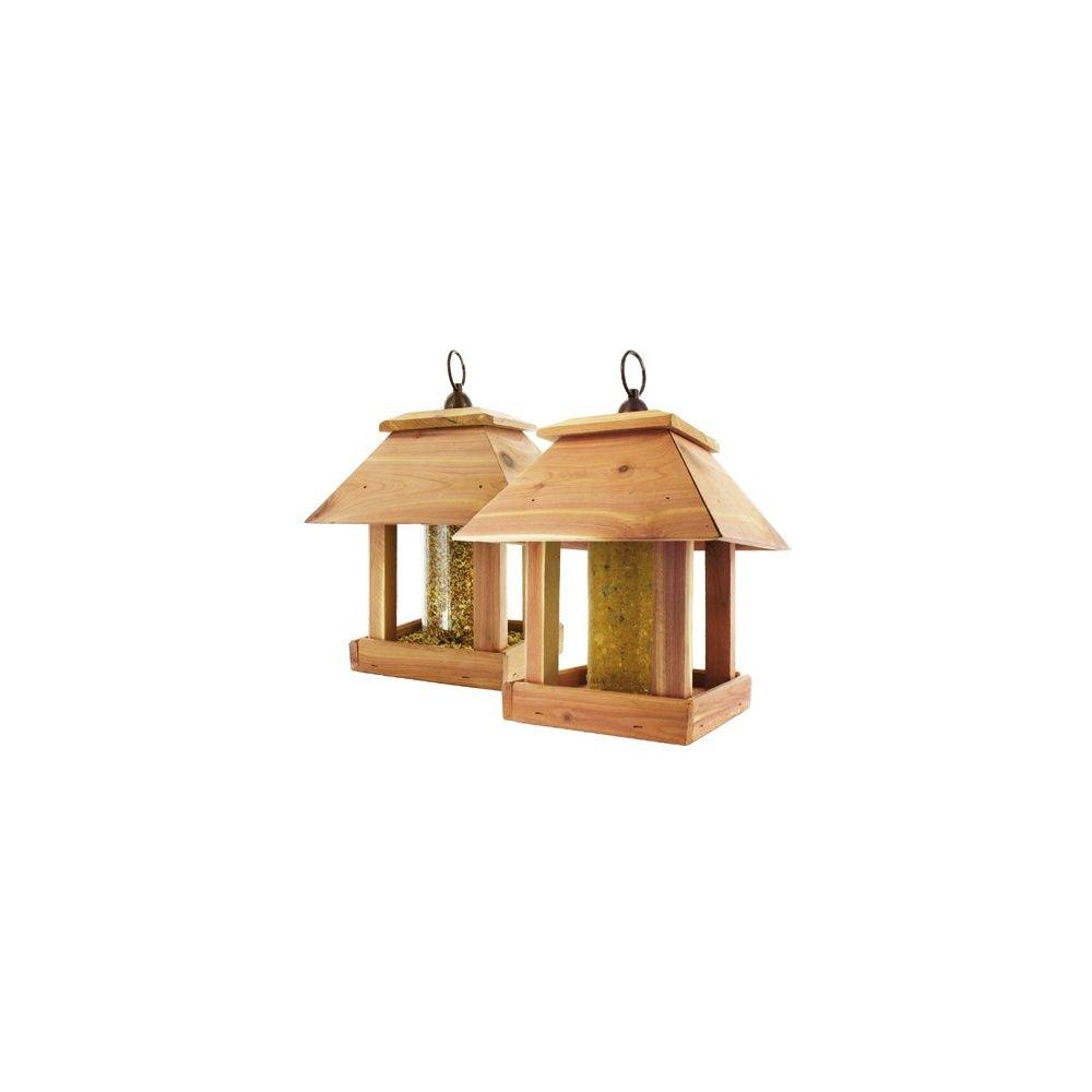 mangeoire oiseaux pour graines ou cylindre de graisse duo plantes et jardins. Black Bedroom Furniture Sets. Home Design Ideas