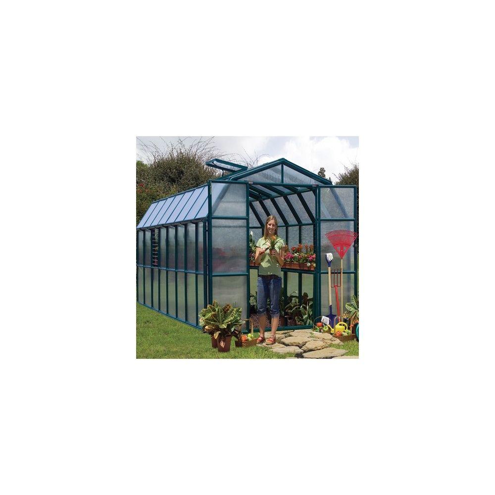 serre de jardin cezanne 13 13 m verte en polycarbonate avec embase et accessoires rion. Black Bedroom Furniture Sets. Home Design Ideas