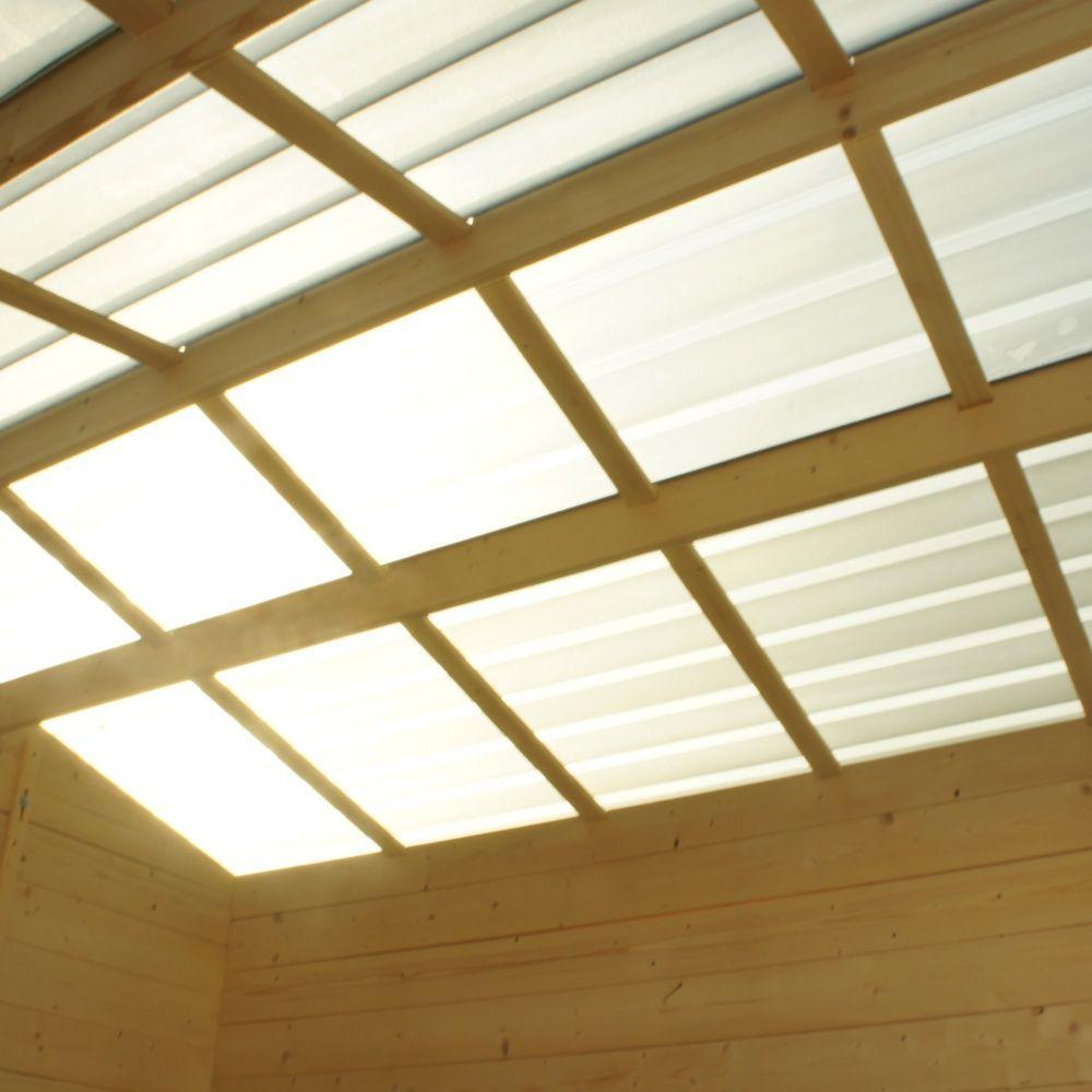 Abri de jardin bois toit polycarbonate 9 42 m ep 28 mm for Abri soleil mural toit rigide