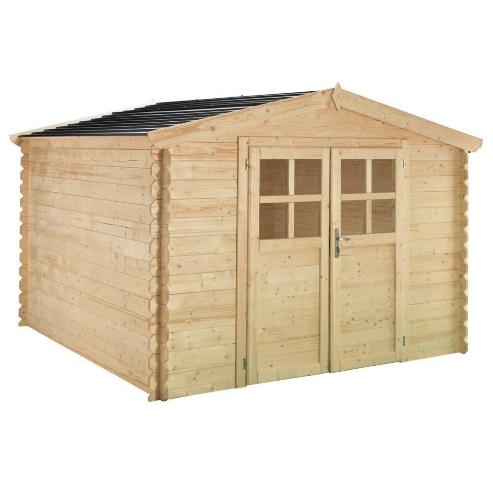 Abri de jardin bois toit polycarbonate 12,52 m² Ep. 28 mm Soleil ...