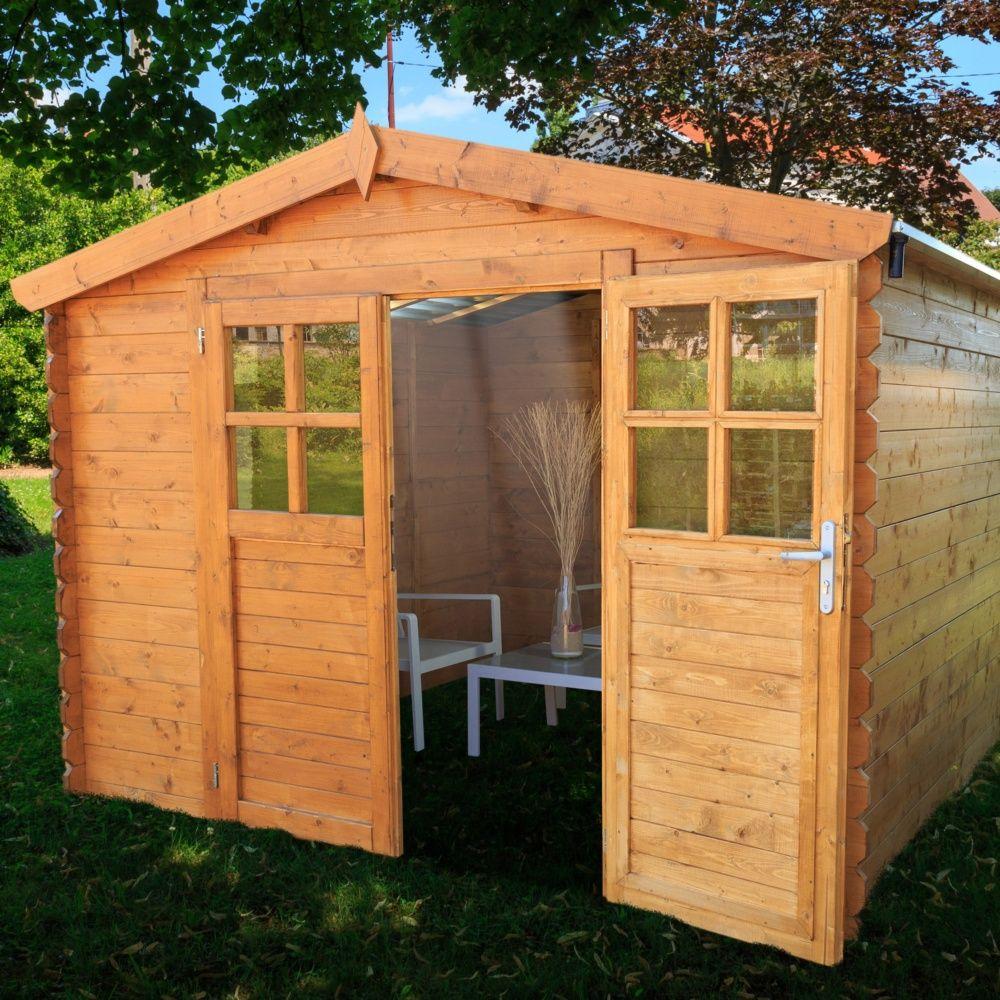 Abri de jardin bois toit polycarbonate 12,52 m² Ep. 28 mm ...