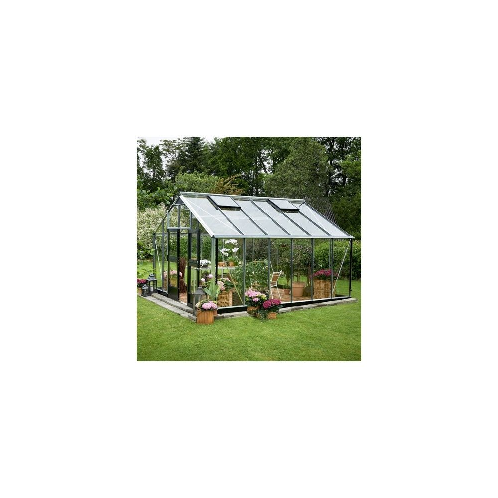 Serre de jardin en verre tremp jardinier hors tout for Serre de jardin juliana